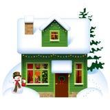 Weihnachtshaus Stockfoto