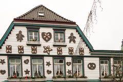 Weihnachtshaus in Deutschland Lizenzfreies Stockbild