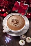 Weihnachtsheiße Schokolade stockbild