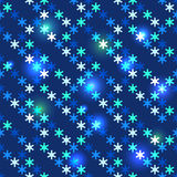Weihnachtshelle nahtlose Schneeflocken vektor abbildung