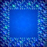 Weihnachtsheller Rahmen mit glänzenden Pailletten Lizenzfreies Stockfoto