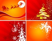 Weihnachtshintergründe Lizenzfreie Stockfotos
