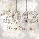 Weihnachtshintergrund. 2013 Jahr Lizenzfreies Stockfoto