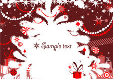 Weihnachtshintergrund Stockbilder