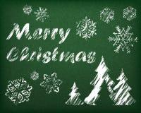 Weihnachtshintergrund auf Grün Stockbilder