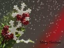 Weihnachtshintergrund auf grauem Hintergrund stockfotografie