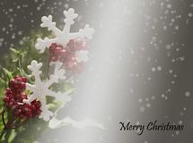Weihnachtshintergrund auf grauem Hintergrund stockbilder