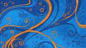 Weihnachtshintergrund-Blaumuster Stockbild