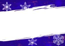 Weihnachtshintergrund in den blauen grunge Farben stock abbildung