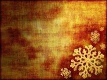 Weihnachtshintergrund in den Goldtönen Stockfotos