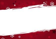 Weihnachtshintergrund in den roten grunge Farben stock abbildung