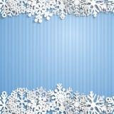 Weihnachtshintergrund der Schneeflocken Stockbilder