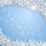 Weihnachtshintergrund der Schneeflocken Lizenzfreie Stockfotos
