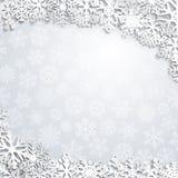 Weihnachtshintergrund der Schneeflocken Stockfoto