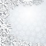 Weihnachtshintergrund der Schneeflocken Lizenzfreie Stockfotografie