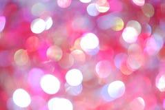 Weihnachtshintergrund der unscharfen Leuchten Lizenzfreies Stockfoto