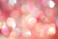Weihnachtshintergrund der unscharfen Leuchten Lizenzfreie Stockfotografie