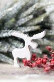 Weihnachtshintergrund in der Weinleseart glückliches neues Jahr 2007 Stockfotos