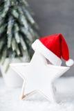 Weihnachtshintergrund in der Weinleseart glückliches neues Jahr 2007 Stockbild