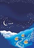 Weihnachtshintergrund für eine Feiertagsgrußkarte Stockfoto