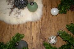 Weihnachtshintergrund für eine Karte stockfotografie