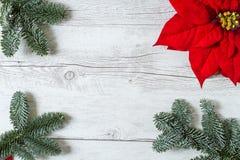 Weihnachtshintergrund für Grußkarte Stockbild