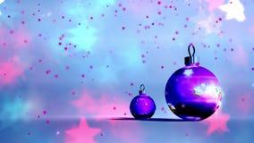 Weihnachtshintergrund, fallende Schneeflocken, Weihnachtshintergrund, guten Rutsch ins Neue Jahr stock video