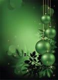 Weihnachtshintergrund-Grün Stockbilder