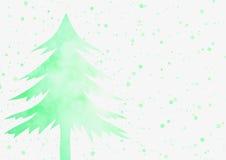 Weihnachtshintergrund - grüner Weihnachtsbaum mit Scheinlicht b Lizenzfreie Stockfotos