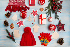 Weihnachtshintergrund horizontal Lizenzfreie Stockfotos