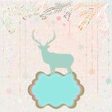 Weihnachtshintergrund-Kartenschablone. ENV 8 Stockbild