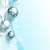 Weihnachtshintergrund mit Bällen Lizenzfreies Stockfoto