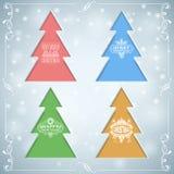 Weihnachtshintergrund mit Bäumen Stockbilder
