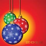 Weihnachtshintergrund mit Ballonen Stockbilder