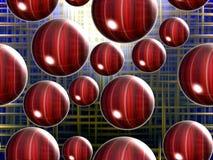 Weihnachtshintergrund mit Blasen und Blaulichtern Lizenzfreie Stockfotografie