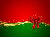 Weihnachtshintergrund mit Bogen vektor abbildung