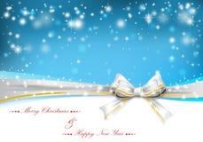 Weihnachtshintergrund mit Bogen stock abbildung