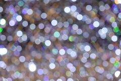 Weihnachtshintergrund mit bokeh Lichtern Lizenzfreies Stockfoto