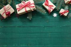 Weihnachtshintergrund mit copyspace Stockfotografie