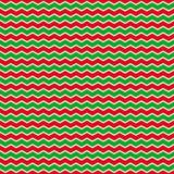 Weihnachtshintergrund mit den grünen und roten Zickzackstreifen Lizenzfreie Stockbilder