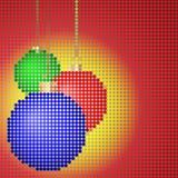 Weihnachtshintergrund mit den Kugeln eines Mosaiks Stockbild