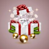 Weihnachtshintergrund mit den Tannenzweigen Lizenzfreie Stockbilder