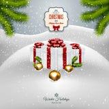 Weihnachtshintergrund mit den Tannenzweigen Lizenzfreies Stockfoto