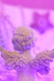 Weihnachtshintergrund mit einem Engel Stockbilder