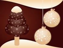 Weihnachtshintergrund mit Eiscreme Stockbild