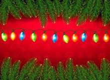 Weihnachtshintergrund mit Farbeharland Lizenzfreie Stockfotos