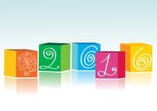 Weihnachtshintergrund mit Farbenziegelsteinen 2010 Lizenzfreies Stockfoto