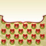 Weihnachtshintergrund mit Feld Stockfotos