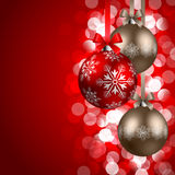 Weihnachtshintergrund mit Flitter Lizenzfreie Stockfotos