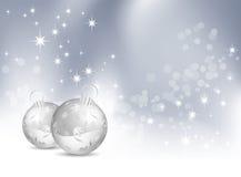 Weihnachtshintergrund mit Flitter Stockfotos